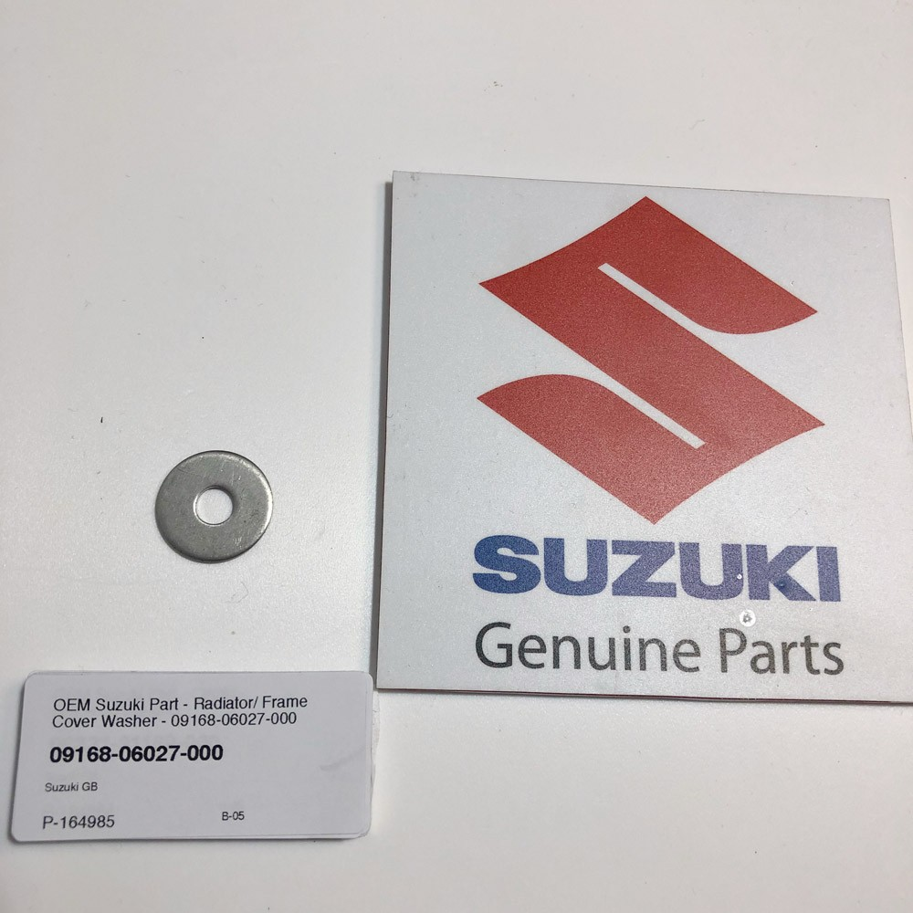 OEM Suzuki Part - Radiator/ Frame Cover Washer - 09168-06027-000