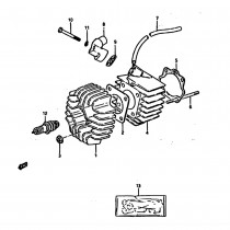 Suzuki ATV Quad LT50 E (1984) - Engine Cylinder