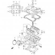 Suzuki DL650 K4 - Rear Cylinder Head Parts